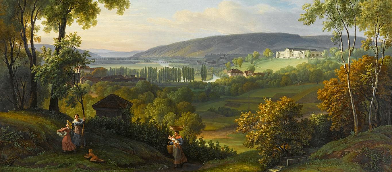 Friedrich Steinkopf, Blick ins Neckartal mit Schloss Rosenstein, Staatsgalerie Stuttgart